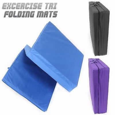Tri Folding Exercise Thick Mat Training Workout Padded Non Slip Yoga Gym Mats