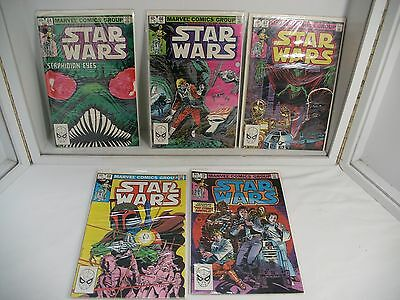 Lot of 5 1980's Vintage Star Wars Comics #64-66-67-68-70~ Plastic With Cardback