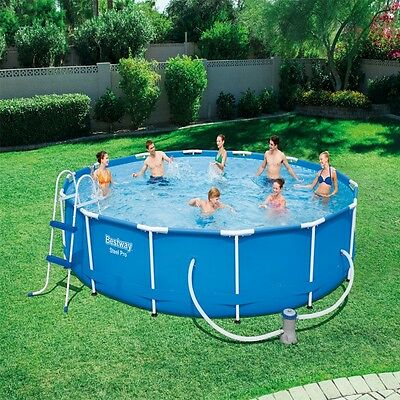Bestway Steel Pro Frame Pool Set | 8ft,10ft,12ft,14ft,15ft,18ft Sizes
