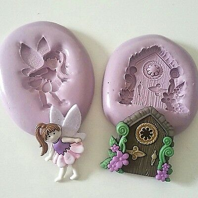 Fairy and Fairy Door Silicone Moulds Cake Decorate Icing Fondant Clay Fimo Resin
