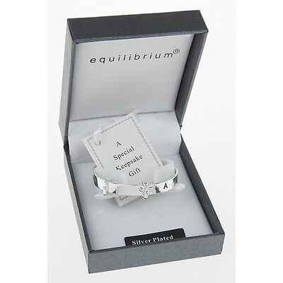 Baby Bangle Gift Guardian Angel Equilibrium Expandable Silver Plated 54470