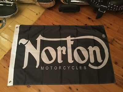 norton Motor bike motor cycle pool room  3 x 2 foot flag for the mancave or bar