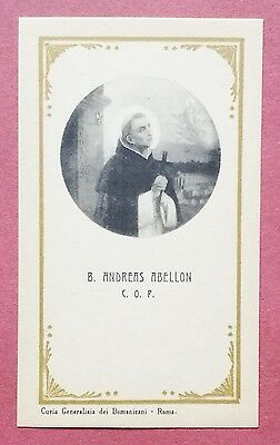 Santino Holy Card: Beatus Andreas Abellon C.O.P.