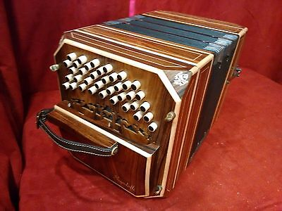 NEW Scandalli Bandoneon Rosewood 152 Tone Argentinean System Italy LM 39/37