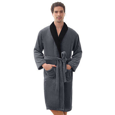 Bathrobe Coral Fleece Robe for Men --Thick-VERY SOFT -Long Robe **SALE***