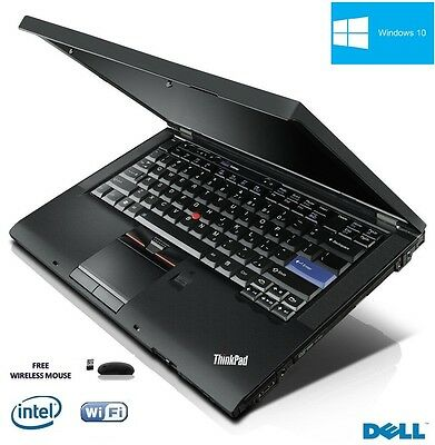 Lenovo Thinkpad T410 Core i5 CPU Windows 10 Laptop FAST POWERFUL WIFI DVDRW