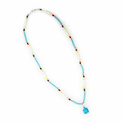 Lakota Crafters Blue Turtle Charm Necklace by Sara Fills the Pipe