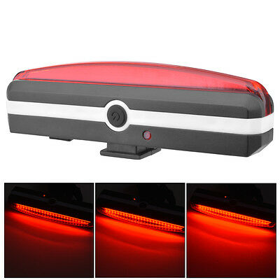 LED Rear Red Safe Light Taillight Flashlight USB for Bike Bicycle Cycling CS411