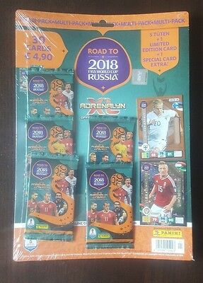 Panini Adrenalyn XL Road to 2018 World Cup Russia  Multipack