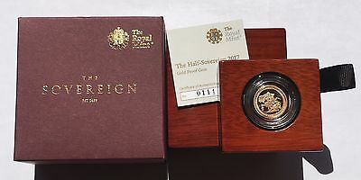 2017 Royal Mint 200th Anniversary Gold Proof Half Sovereign SEALED Low Cert No