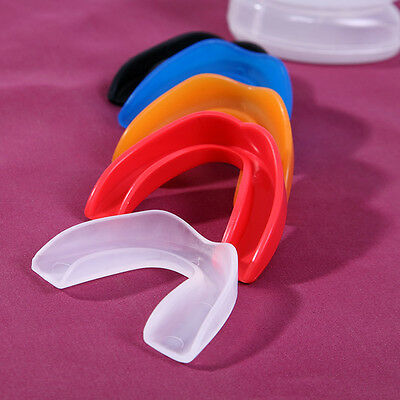 Adult &Junior Gum Shields Mouth Guards With Box for Boxing Rugby All Sports FO