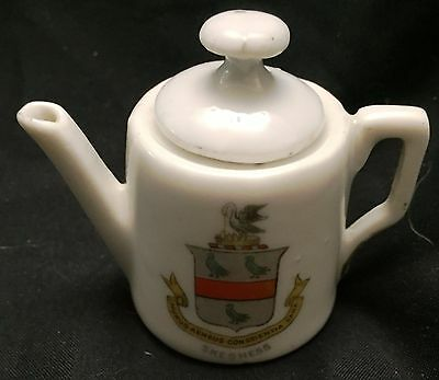 Vintage Skegness Crest souvenir Porcelain Mini Tea Pot by Gemma Ca 1904-1945
