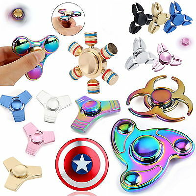 Fidget Spinner Anti Stress Hand Alubox  ADHD Anti Stress Spielzeug Silber GOLD