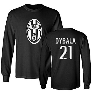 huge selection of 0317f a81b0 JUVENTUS SHIRT PAULO Dybala #21 Jersey Men & Youth Long Sleeve T-shirt