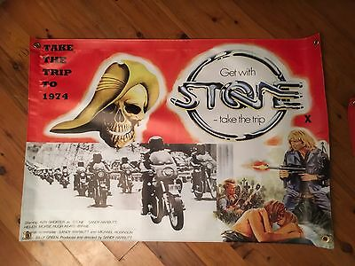 Stone 3x2 foot STONE movie man cave vinyl print And stickers STONE bikie movie