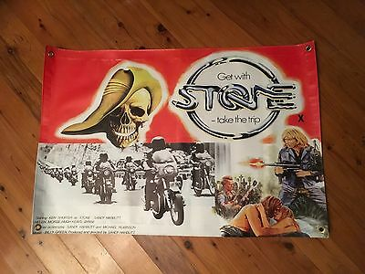 Stone 3x2 foot STONE movie man cave vinyl print & extras as per picture stone