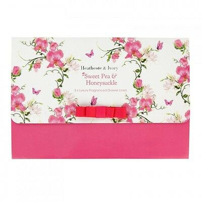 Heathcote & ivory Sweet Pea & Honeysuckle Scented Draw Liners