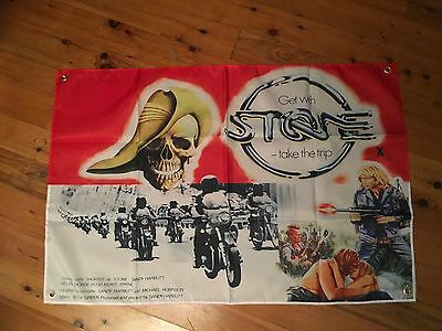 STONE 3 x2 foot  mancave flag & extras as per pic STONE movie poster STONE