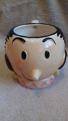 Olive Oyl Oil Popeye Kings Features Syndicate Inc. Ceramic Coffee Mug 1980 rare