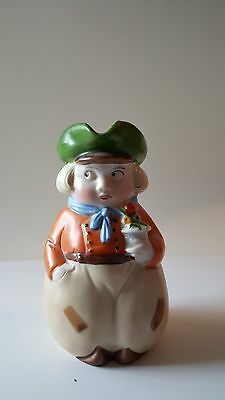 """""""Dutchy"""" Jugs Erphilia Germany Boy with Flowers 58 perfect condition 5 1/2"""" tall"""