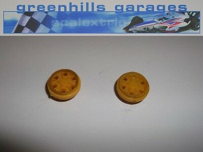 Greenhills Scalextric Formula Junior Wheel Pair in Yellow Used P2240