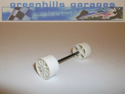 Greenhills Scalextric Opel / Vauxhall Calibra White Front Axle & Wheels – Use...