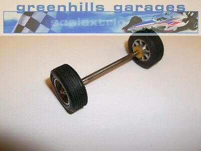 Greenhills Scalextric Javelin/Electra/Lambo/Ford3L Front Axle/Wheels /Tyres U...