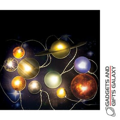SOLAR SYSTEM PLANETS SPACE LED STRING LIGHTS DECORATION Gadgets gifts & games