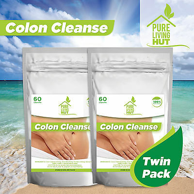 120 x Colon Cleanse capsules, weight loss, detox, all natural ingredients