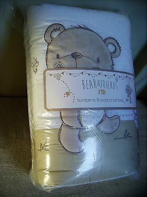 New  Mother care Cot/Cot Bed Bumpers-Bear & Friends