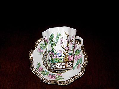 coalport indian tree cup and saucer...demi tase