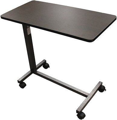 Drive Medical Overbed Laptop Food Tray Rolling Table Adjustable Hospital Desk