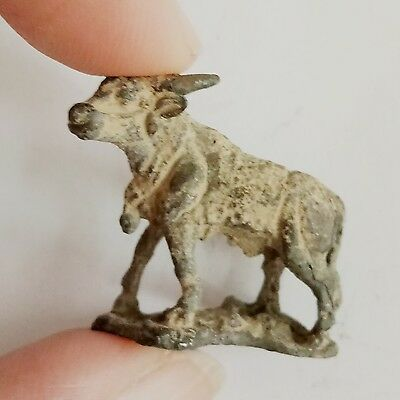 Rare Old Antique Roman Silver Animal Statue