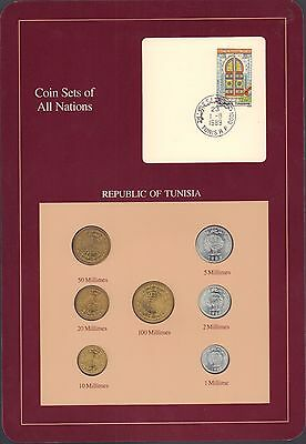 {BJSTAMPS} Coin Sets of All Nations Republic of Tunisia BU 1960-1983