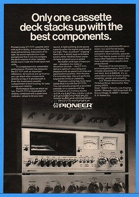 1974 Pioneer CT-7171 Cassette Deck With Dolby Vintage Stereo Component Print Ad