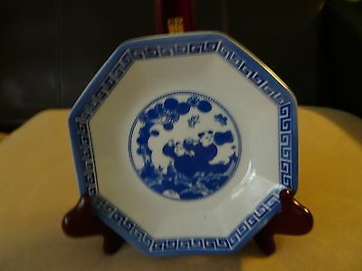 VINTAGE CHINESE square PORCELAIN PLATE  blue white