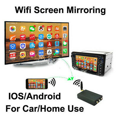 iPhone Android Miracast DLNA Airplay Screen Mirroring Car Stereos