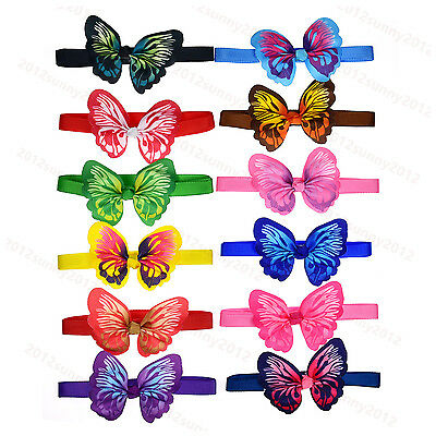 Pet Puppy Dog Cat Bowties Adjustable with Beautiful Butterfly Dog Bow ties