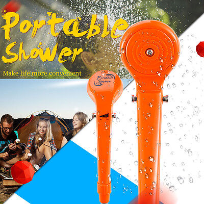 12V Portable Automobile Shower Set Water Pump Camping Car Caravan Boat Orange