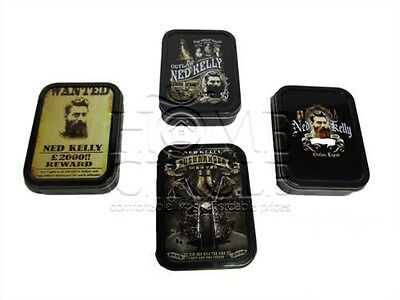 Assorted Design Ned Kelly Outlaw Tobacco Cigarette Smoke Stash Tin Small Size