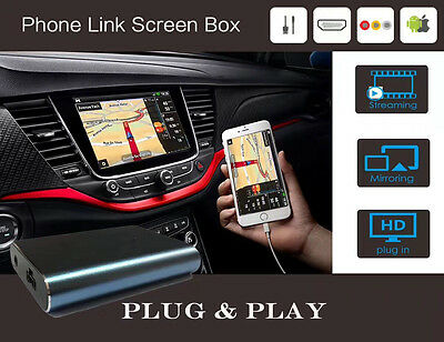 Miracast Android Airplay Screen Mirroring Car Stereos/Audio Display W/ HDMI+AV