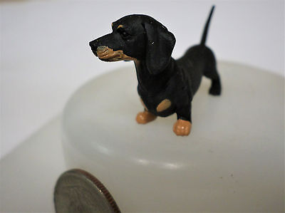 "DACHSHUND Black & Tan Weiner Dog 2"" New Figure Figurine Hood Hounds"
