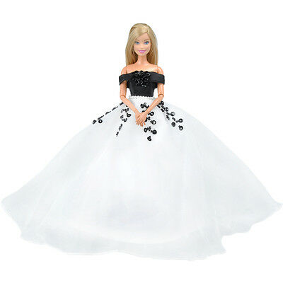 E-TING Doll Evening Wedding Dress Formal Gown Party Clothes for Barbie Dolls S