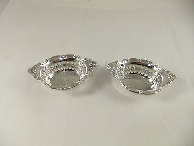Pair of Sterling Silver Cromwell Bon Bon Nut Dishes 4780 Gorham Mfg Co