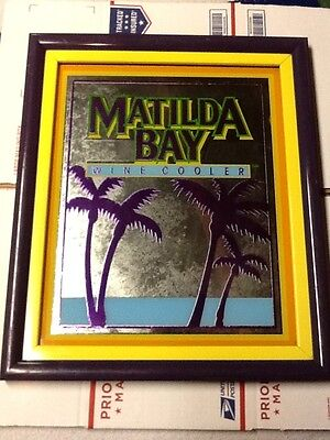Matilda Bay Wine Cooler Bar Mirror Sign, 16x19 Framed,
