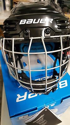 Bauer Prodigy Youth Hockey Helmet Combo Black XS Brand New