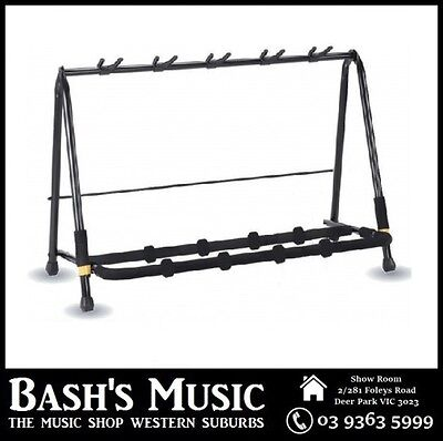 Hercules GS525B Heavy Duty Multi Guitar Stand Rack Holds 5 Guitars