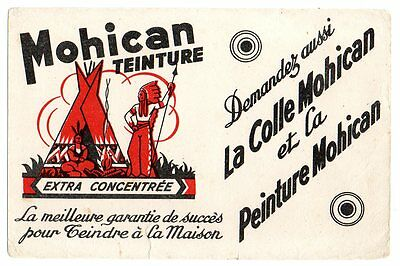 Buvard publicitaire colle teinture Mohican