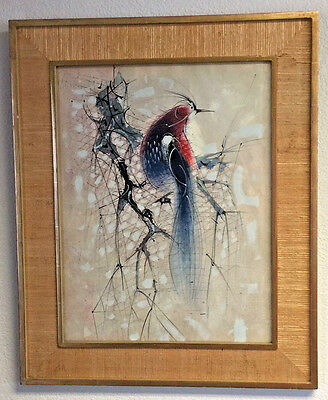 Paul Maxwell Original Mixed media Watercolor, gouache and ink signed dated 1960