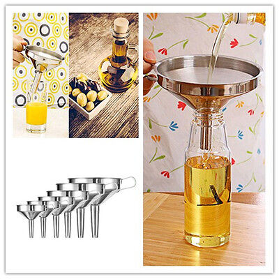 Stainless Steel Detachable Can Funnel Cup Hopper Filter Kitchen Tools Strainer